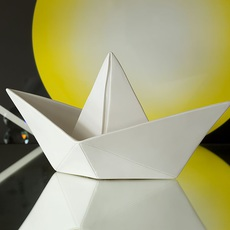 Bateau lorena canals goodnight light paperboat blanc luminaire lighting design signed 21615 thumb
