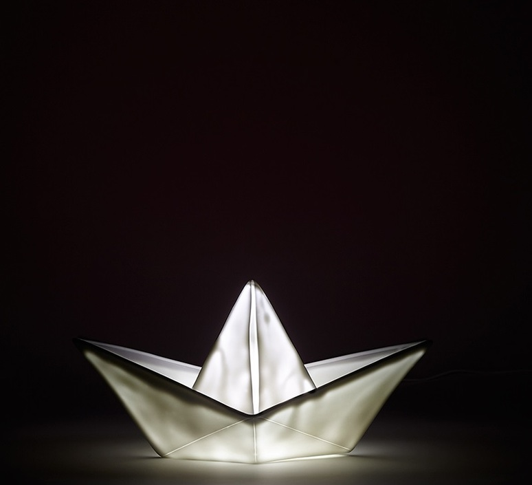 Bateau lorena canals goodnight light paperboat blanc luminaire lighting design signed 21616 product