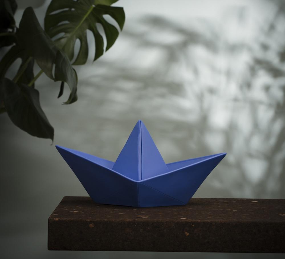 Lampe enfant veilleuse baladeuse bateau bleu royal l32cm h16cm goodnight light - Veilleuse pour salon ...