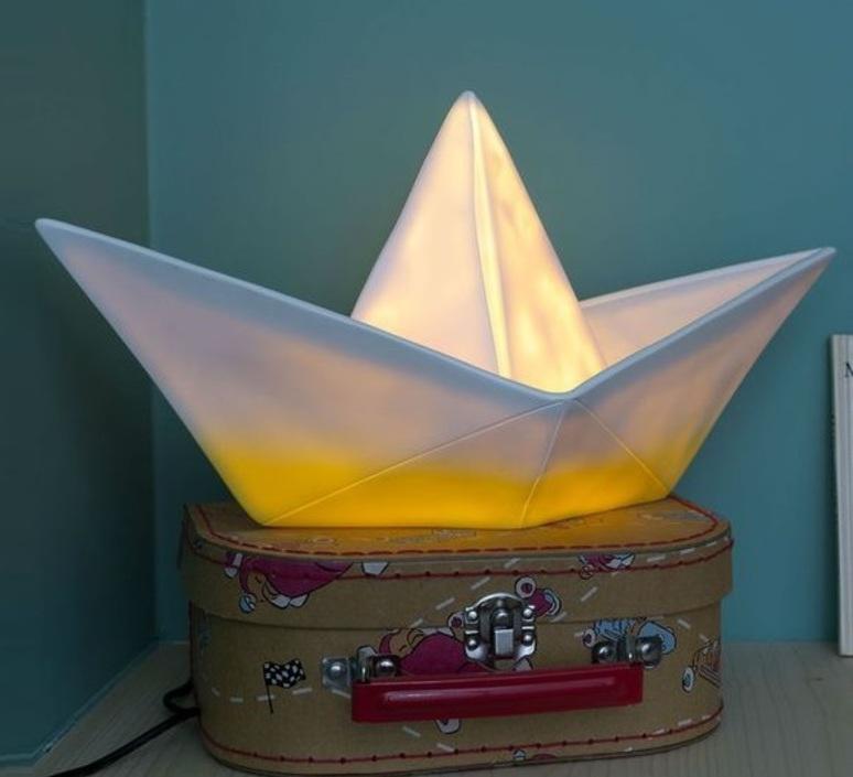 Bateau lorena canals goodnight light paperboat jaune luminaire lighting design signed 21588 product