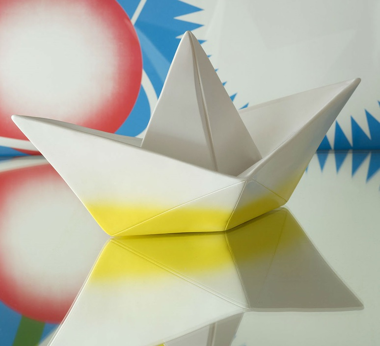 Bateau lorena canals goodnight light paperboat jaune luminaire lighting design signed 21589 product