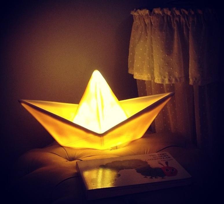 Bateau lorena canals goodnight light paperboat jaune luminaire lighting design signed 21593 product