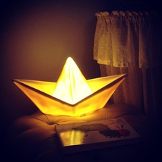 Bateau lorena canals goodnight light paperboat jaune luminaire lighting design signed 21593 thumb