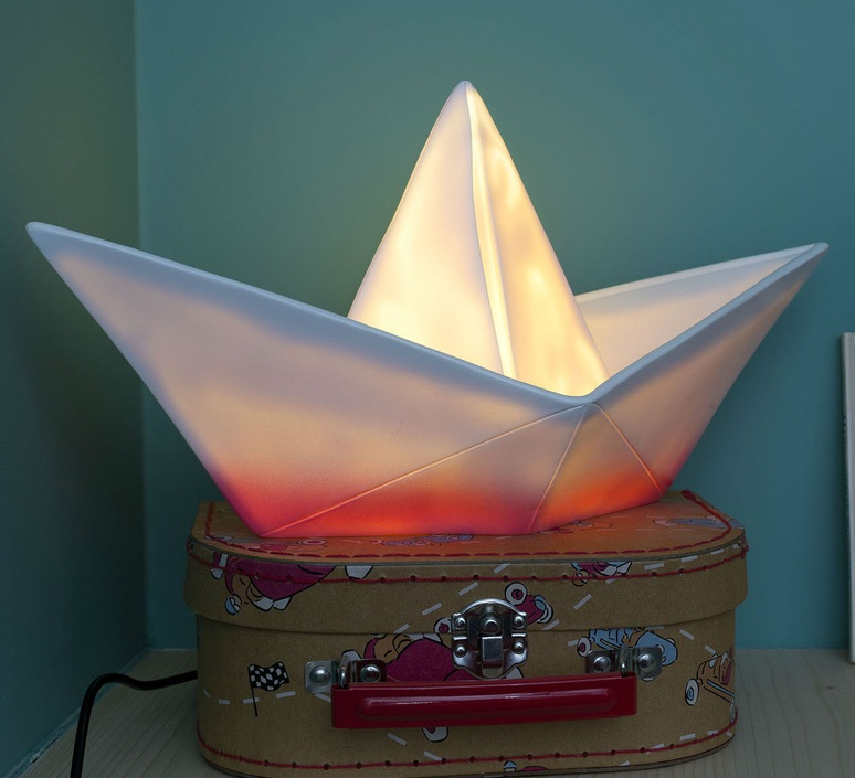 Bateau lorena canals goodnight light paperboat rose luminaire lighting design signed 21604 product