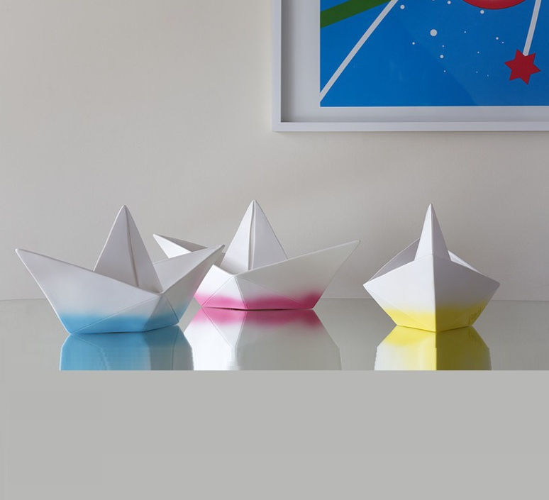 Bateau lorena canals goodnight light paperboat rose luminaire lighting design signed 21607 product
