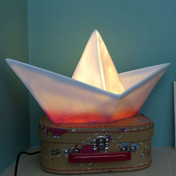 Lampe enfant veilleuse bateau rose l32cm goodnight light normal