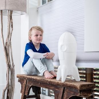 Lampe fusee enfant rocket lamp blanc h46 6cm elfabase normal