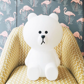 Lampe ours enfant brown xl blanc h80cm mr maria normal