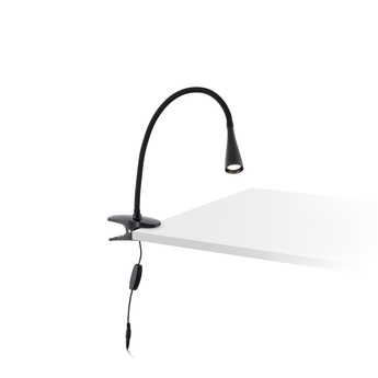 Lampe pince lena noir led o6cm h37cm faro normal