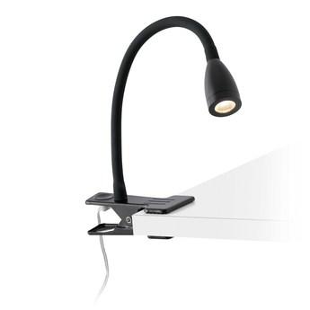 Lampe pince loke noir led o6cm h24cm faro normal