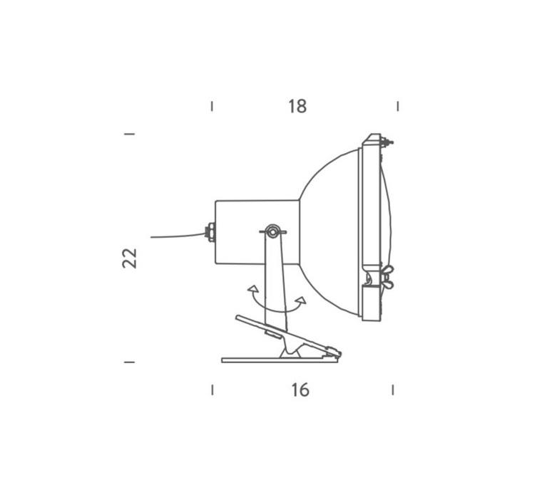 Projecteur 165 charles le corbusier lampe de bureau desk lamp  nemo lighting prp fws 11  design signed 58222 product
