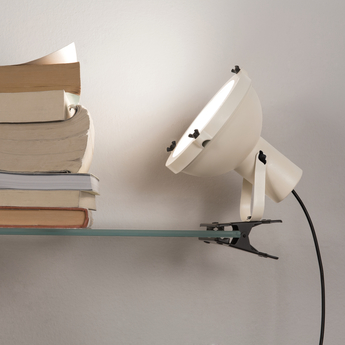 Lampe pince projecteur 165 blanc l16cm h22cm nemo lighting normal