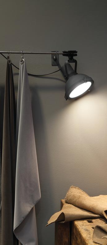 Lampe pince projecteur 165 bleu l16cm h22cm nemo lighting normal
