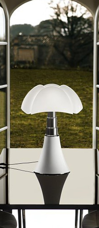 Lampe pipistrello medium led 900lm 2700k variation blanc h50 a 62cm o40cm martinelli luce normal