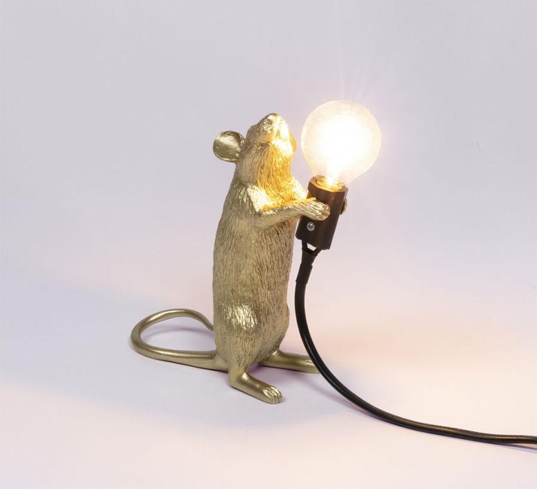 Mouse standing marcantonio raimondi malerba lampe a poser table lamp  seletti mouse14884  design signed 97865 product
