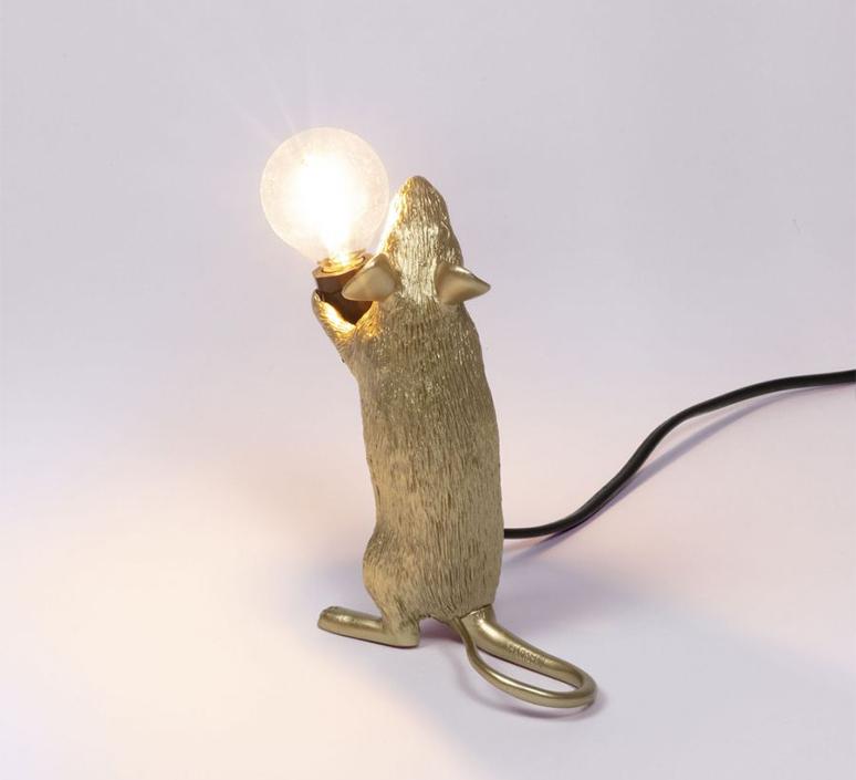Mouse standing marcantonio raimondi malerba lampe a poser table lamp  seletti mouse14884  design signed 97866 product