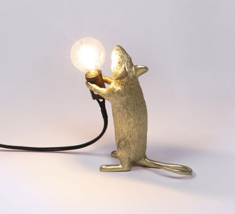 Mouse standing marcantonio raimondi malerba lampe a poser table lamp  seletti mouse14884  design signed 97867 product