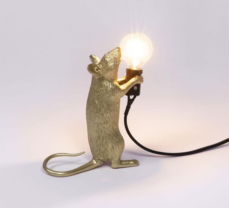 Mouse standing marcantonio raimondi malerba lampe a poser table lamp  seletti mouse14884  design signed 97868 product