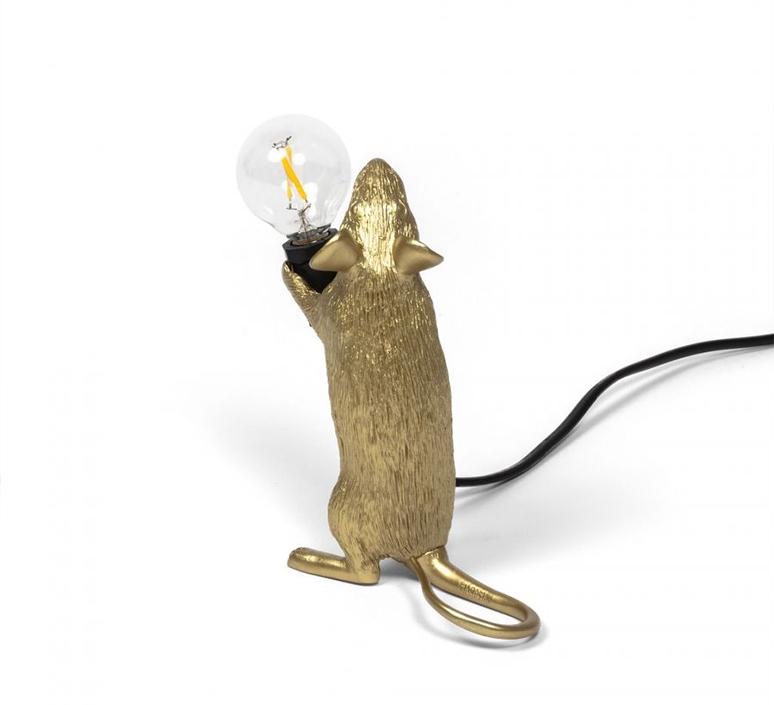 Mouse standing marcantonio raimondi malerba lampe a poser table lamp  seletti mouse14884  design signed 97869 product