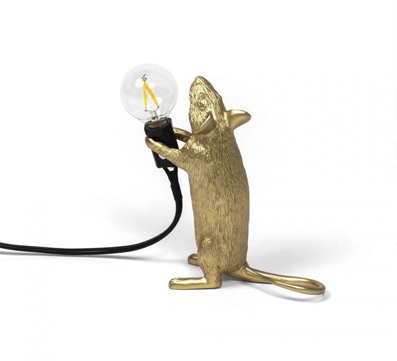 Mouse standing marcantonio raimondi malerba lampe a poser table lamp  seletti mouse14884  design signed 97870 product