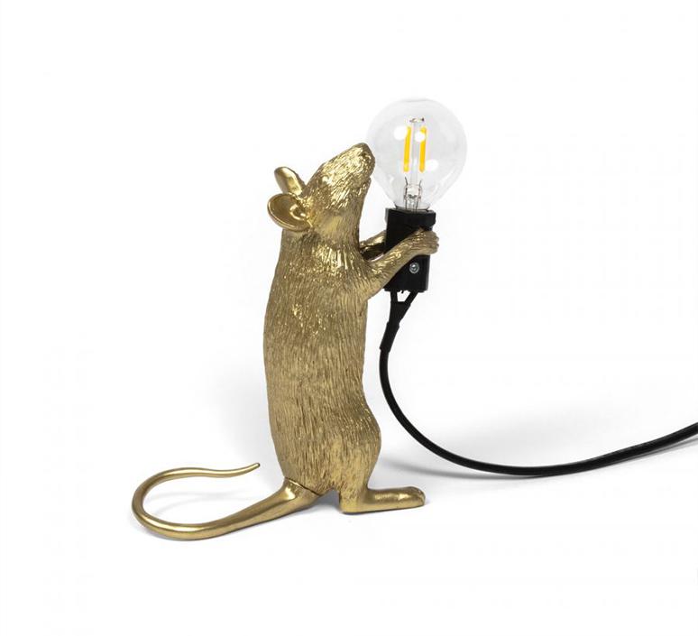 Mouse standing marcantonio raimondi malerba lampe a poser table lamp  seletti mouse14884  design signed 97871 product