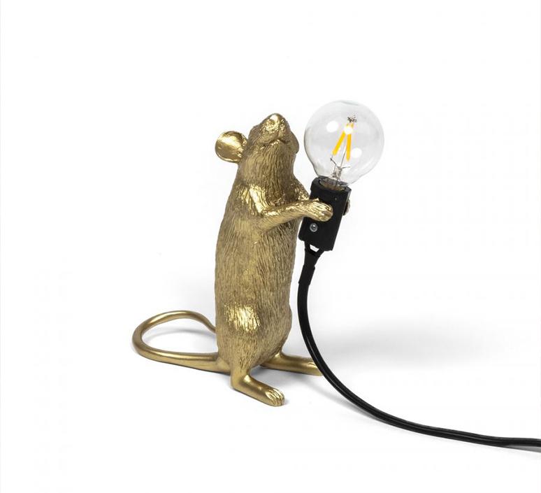Mouse standing marcantonio raimondi malerba lampe a poser table lamp  seletti mouse14884  design signed 97872 product
