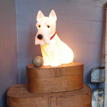 Lampe veilleuse chien scotty blanc h39cm egmont toys normal