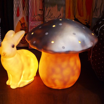 Lampe veilleuse grand champignon argent o29cm egmont toys normal