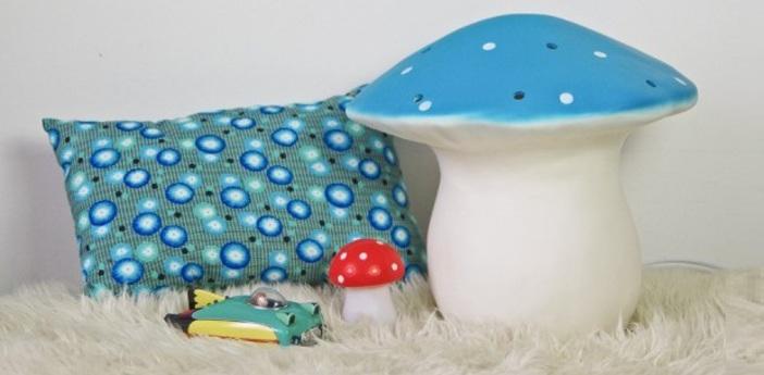 Lampe veilleuse grand champignon bleu o29cm egmont toys normal