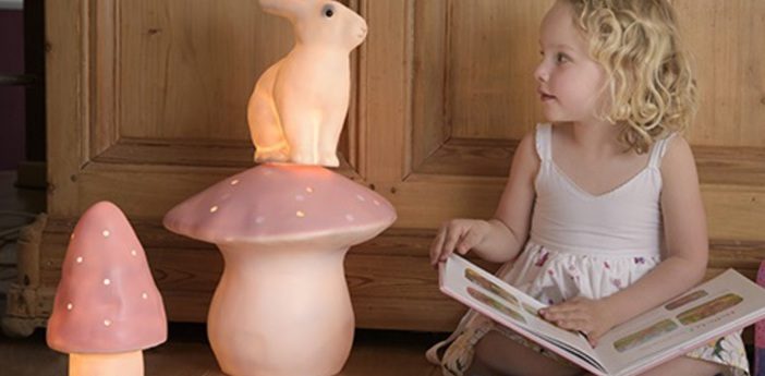 Lampe veilleuse grand champignon rose o29cm egmont toys normal