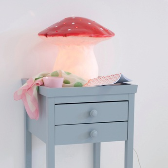 Lampe veilleuse grand champignon rouge o29cm egmont toys normal
