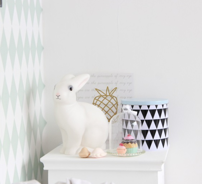 lampe enfants veilleuse lapin blanc h25cm egmont toys luminaires nedgis. Black Bedroom Furniture Sets. Home Design Ideas