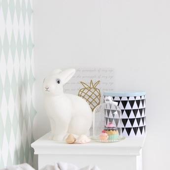 Lampe veilleuse lapin blanc h25cm egmont toys normal