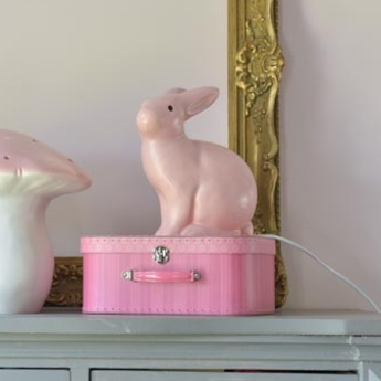 Lampe veilleuse lapin rose clair h25cm egmont toys normal
