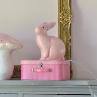Lampe Enfants Veilleuse Lapin Rose Clair H25cm Egmont Toys