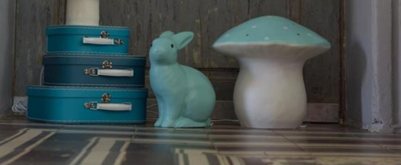 Lampe veilleuse lapin vert jade h25cm egmont toys normal