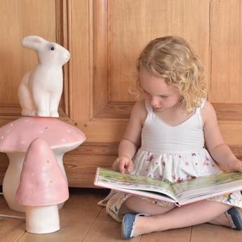 Lampe veilleuse petit champignon rose clair h28cm egmont toys normal
