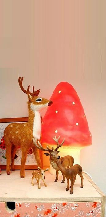 Lampe veilleuse petit champignon rouge h28cm egmont toys normal