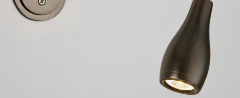 Liseuse murale applique liseuse flexible led lindos bronze o33 1cm h14cm astro normal