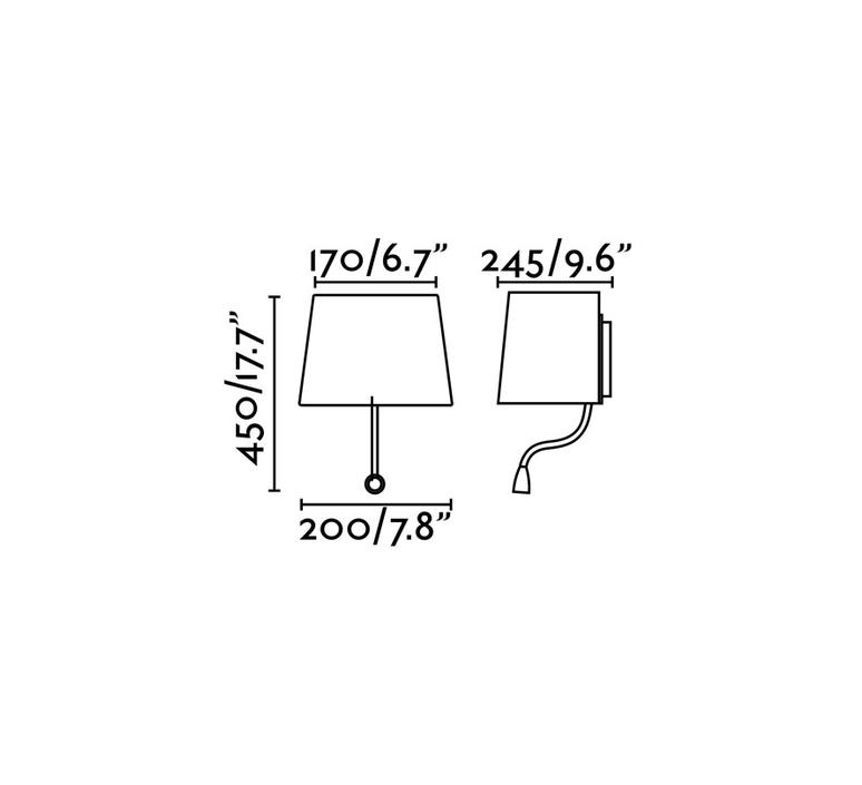 Sweet estudi ribaudi liseuse murale wall reading light  faro 29951  design signed 56468 product