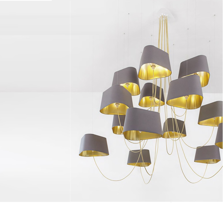 Chandelier 15 arms moyen nuage grey gold 192cm h130cm grand nuage herve langlais designheure lu6gnbbn luminaire lighting design signed 33363 product aloadofball Gallery