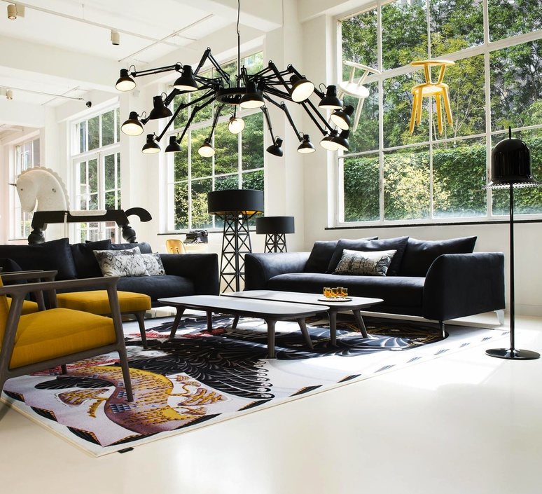 lustre 16 bras dear ingo noir 73cm h68cm moooi. Black Bedroom Furniture Sets. Home Design Ideas