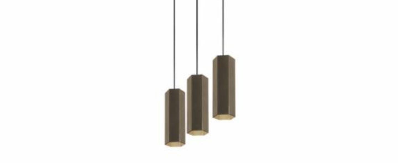 Lustre 3 suspensions hexo multi 2 0 par16 bronze l90cm o7 7 wever ducre normal