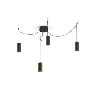 Lustre 4 suspensions hexo multi 2 0 par16 bronze h20cm wever ducre normal
