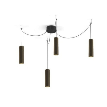 Lustre 4 suspensions hexo multi 3 0 par16 bronze h30cm wever ducre normal