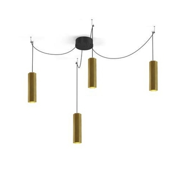 Lustre 4 suspensions hexo multi 3 0 par16 or h30cm wever ducre normal