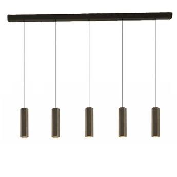 Lustre 5 suspensions hexo multi 3 0 par16 bronze l150cm h30cm wever ducre normal