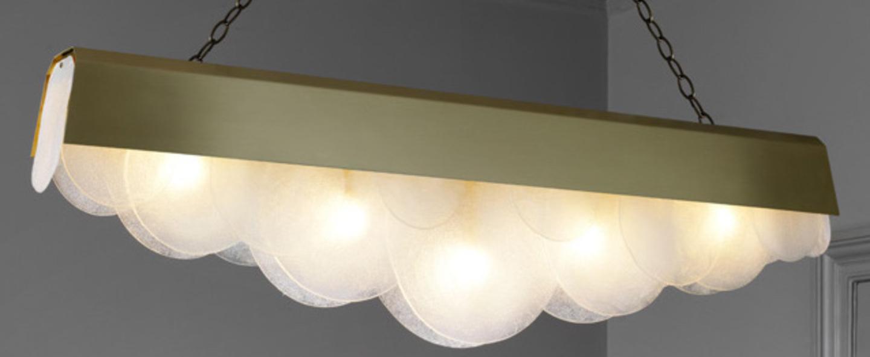 Lustre alto laiton l127cm h35cm cto lighting normal