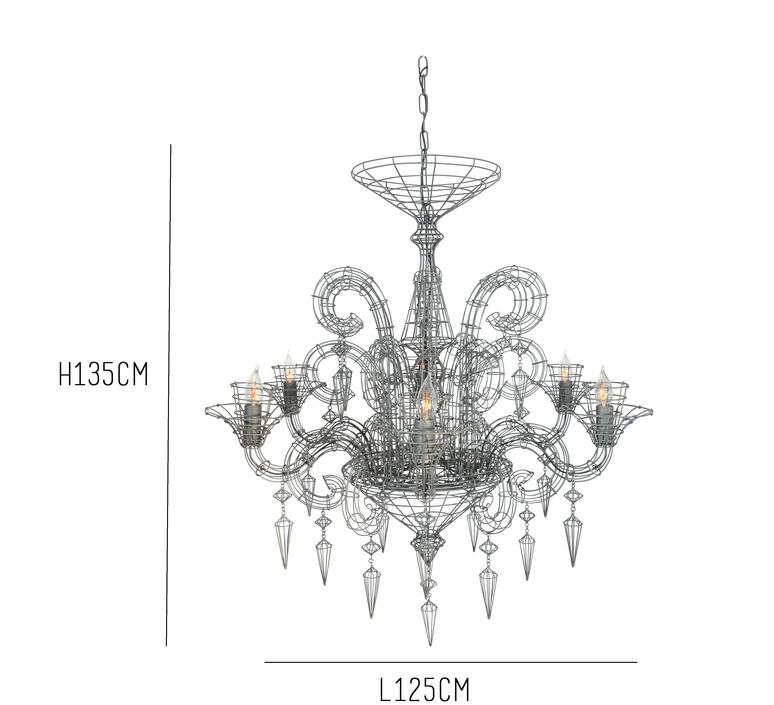 lustre angelus gris h115cm forestier luminaires nedgis. Black Bedroom Furniture Sets. Home Design Ideas