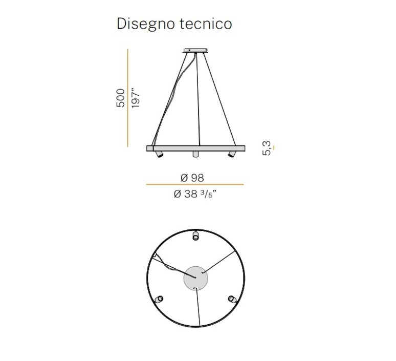 Arena 3 studio tecnico panzeri lustre chandelier  panzeri l07401 100 0518  design signed nedgis 93061 product